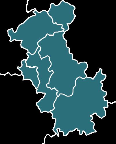 Karte der Tätigkeitsgebiete